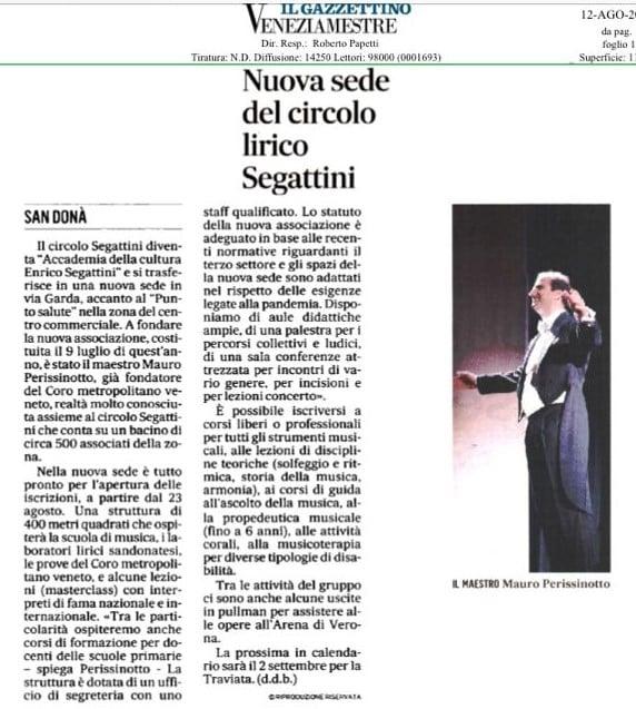Il Gazzettino - Accademia Segattini